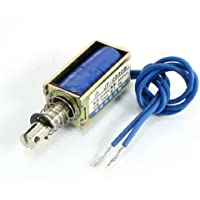 Sourcingmap - Jf-0530b tipo push pull solenoide eléctrico 5n 10mm electroimán dc24v