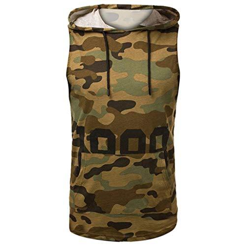 ile Hoodie Sweatshirt Slim fit Crew Neck Basic T-Shirt Rundhals Kapuzenpullover Pullover T-Shirt Tank Top Baumwoll Camouflage Nähte Hoodie t Shirts Männer Tank Top männer Top ()