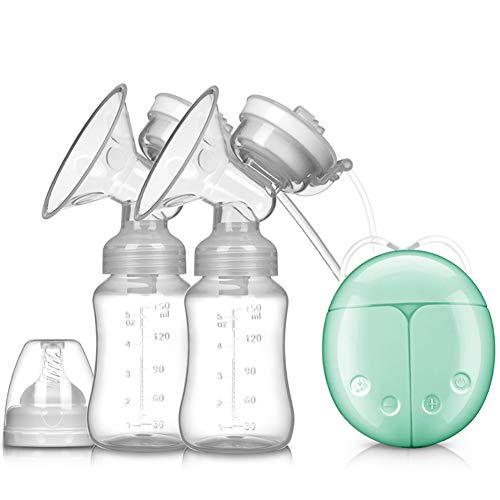 ALCST&CX Elektrische Milchpumpe, Wiederaufladbar tragbar Elektrische Brustpumpe Muttermilch Saugnapf, Brust-Massage, mit Massage & Saugsmodi