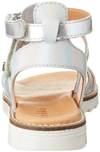 FRODDO Froddo Girls Sandal G3150097-4, Sandales  Bout ouvert fille Argenté