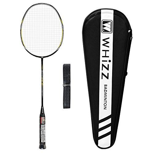 Whizz Profi Nano Graphit Badmintonschläger 80g 26lbs (Schwarz)