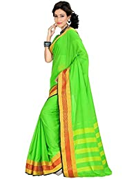 Harsh Sarees Cotton Saree (Yash-2117_Green)