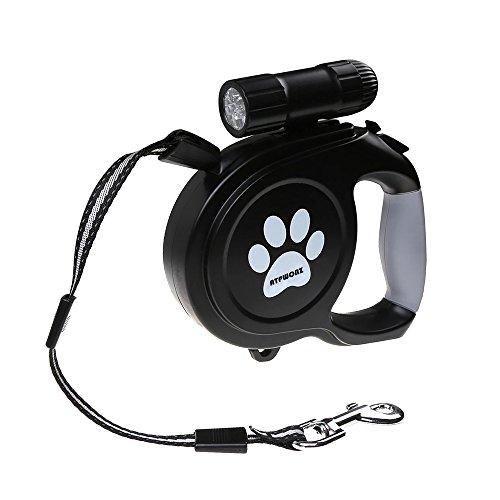 ATPWONZ Automatik-Hundeleine 8M flexi Roll-Leine für Hunde bis max. 120 Pfd. Mit abnehmbar Taschenlame ausstatten
