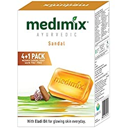 Medimix Ayurvedic Sandal Soap, 125g (4+1 Offer Pack)
