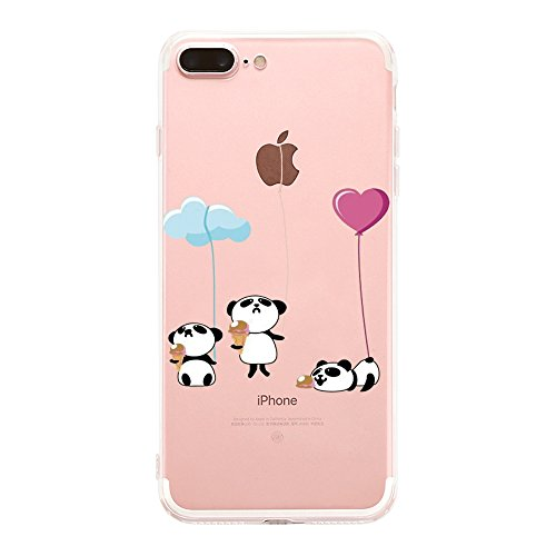 Qissy® TPU iPhone 7 Plus 5.5  copertura trasparente per la copertura della cassa del silicone Alta permeabilità modello vuoto 4