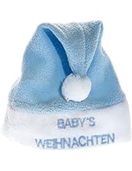 Baby Weihnachtsmütze Nikolausmütze Santa Xmas Blau Fleece Jungs Nikolaus Mütze WM0303006_FBA
