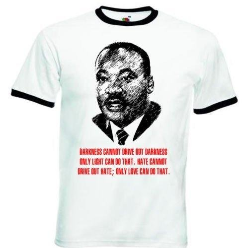 Jr Ringer (Martin Luther King Jr - Black Ringer T-Shirt S)