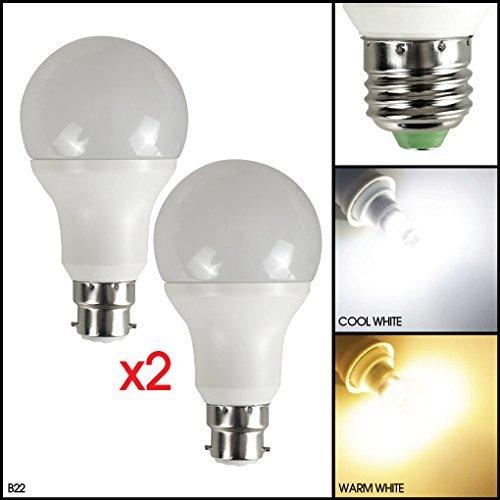 MSC LED-Lampe mit dämmerungsabhängigem Lichtsensor, 3Watt, 270Lumen, automatischer Lichtsensor mit LED-Birne, automatische An-/Abschaltung, warmweißes Leuchtmittel mit 3000K, energiesparend, 3W entspricht 30-W-Glühlampen, Warm White 2 Pack, b22, 3.00 wattsW 220.00 voltsV Dusk To Dawn Glühbirne Adapter