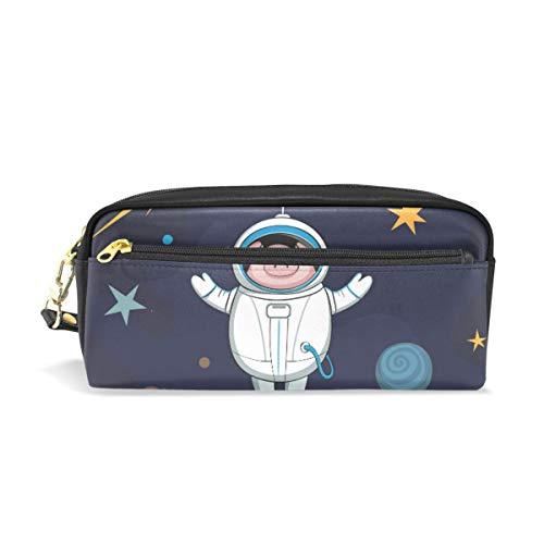 Federmäppchen Astronaut Pig Student Stationery Pen Federmäppchen Holder Bag for School Office Storage Organizer