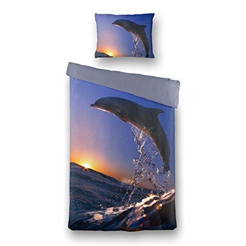 Traumschlaf Bettwäsche Delphin 135x200 + 80x80
