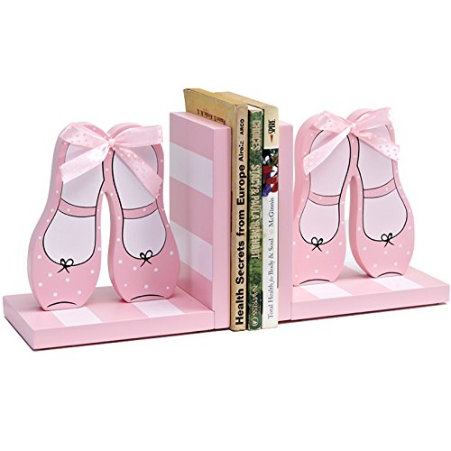 XIAOLE Prinzessin Schuhe Block Farbe Band Rosa Buch Stand Gesetzgebung Kinder Haus Dekoration Buch by Ornaments Fashion Home Furnishings Ornamente -