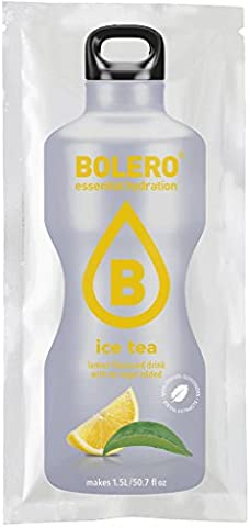 Bolero Iced Tea Lemon Flavour Sugar Free Drink Sachets, choose from 6, 12 or 24 sachets. Each sachet mixes with upto 2 litres water. Available in over 50 delicious fruit flavours. Less than 5 calories per serving, Suitable for diabetics. Can be mixed with tap, soda, sparkling water and milk. Easy to pour powder sachets makes between 1.5-2 litres each. Also see our other listings. Multipack available with 24 instant drink flavours to try (6)