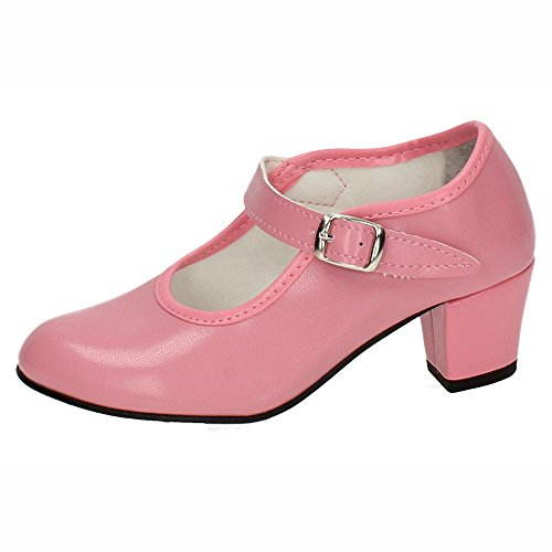 Made in Spain 1499627 SEVILLANAS Flamencos Niña Zapatos Tacón Rosa 27