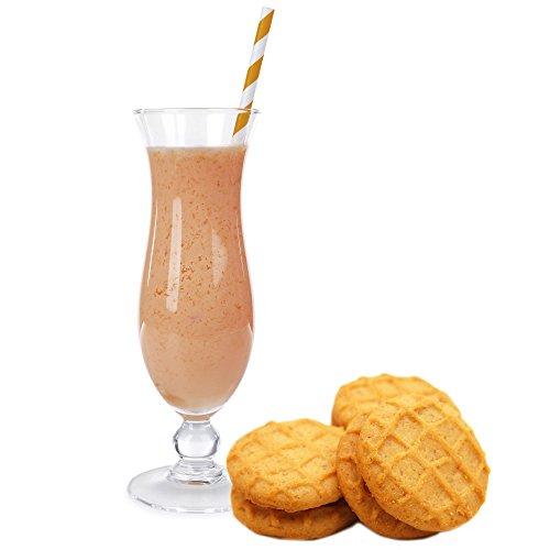 Butterkeks Cookie Geschmack Proteinpulver Vegan mit 90% reinem Protein Eiweiß L-Carnitin angereichert für Proteinshakes Eiweißshakes Aspartamfrei (1 kg)