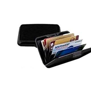 Black Aluminum RFID Blocking Credit Card Wallet Case by DEDC