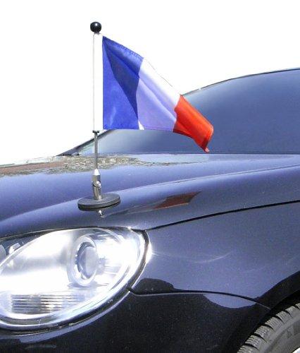 Unbekannt magnetisch haftender Autofahnen-Ständer Diplomat-1 Frankreich mit Super-Magnet für Ihre Autoflaggen - Auto Fahne & Flagge