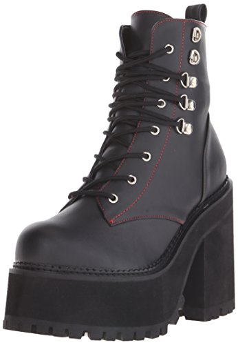 100 Schwarz Femme Assault Bottines Schwarz Demonia RqwaO5