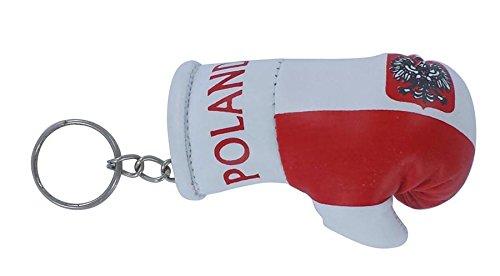 Porta chiavi Portachiavi Portachiavi bandiera Polonia polacco polska guanto da boxe inglese