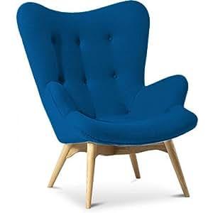 Fauteuil Contour Lounge Chair - Style Grant Featherston - Cachemire Bleu foncé
