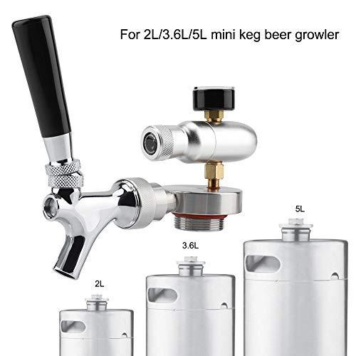 41jHsBYRnKL. SS500  - TOPINCN Beer Spear Faucet Tap Homebrew Mini Beer Barrel Wine Dispenser Kit Stainless Steel for 2L 3.6L 4L Mini Keg Beer…