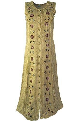 Besticktes indisches Hippie Kleid in 4 Farben / Lange Kleider Mint