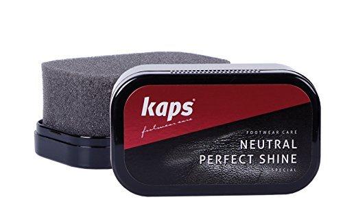 Kaps Perfect Shine Schuhpolier-Schwamm für sofortigen Glanz, 3 Farben Neutral/Transaprent/Colourless