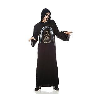 Aec-aq00741/STD-Disfraz de túnica Esqueleto Adultos, Talla única