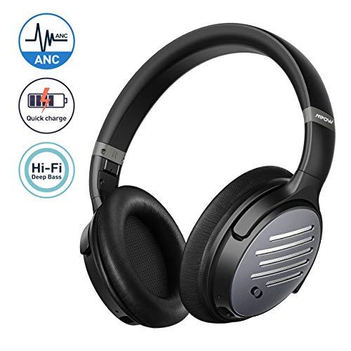 Mpow H16 Cuffie Bluetooth, Cuffie Cancellazione Attiva del Rumore, Autonomia 30 Ore, Suono Stereo Hi-Fi, Ricarica Rapida e...