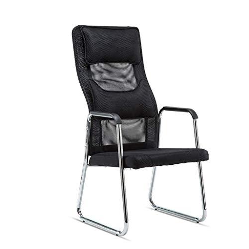 SCDXJ Stühle Büro hohe Rückenlehne Hocker, große Kopfstütze für die Gäste Empfang Konferenz Computertisch -
