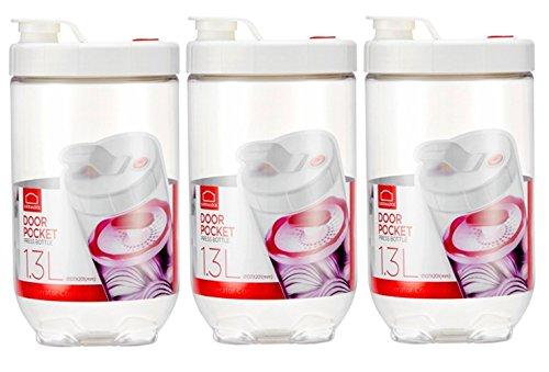 LOCK n LOCK Inteorak Clear Pickle Jar / Ferment Storage Container 3SET / 1.3L Clear Type /Make Sauerkraut, Kimchi, Pickles Or Any Fermented Probiotic Foods. Ferment Vegetables by LOCKNLOCK (Locknlock Container)