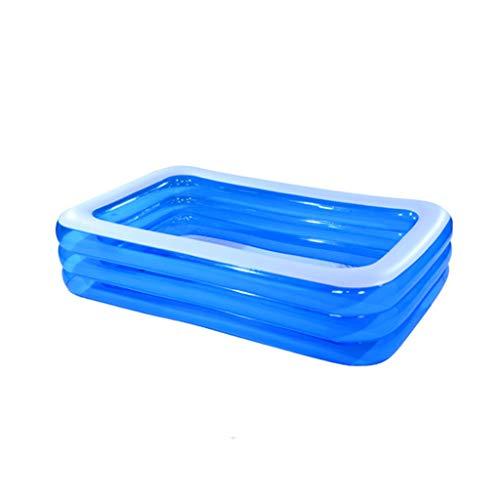 ZHPPRODUCT Piscina Inflable para Niños Súper Grande Bola Marina Piscina Piscina Engrosamiento Hogar Juego Familiar Piscina De Varios Tamaños Azul (Tamaño : 265 * 175 * 60)