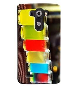 Omnam Glass Made Of Drinks Printed Designer Back Cover Case For LG G3