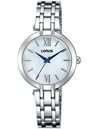 Lorus Watches Damen-Armbanduhr Fashion Analog Quarz Edelstahl RG287KX9