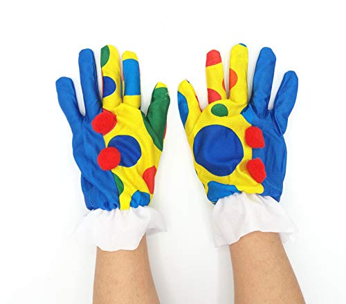 Dollar Store Guantes Payaso Lunares Hombre Mujer