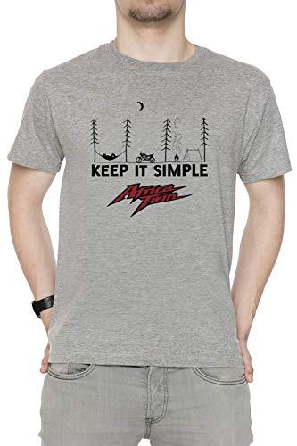 Africa Twin Kiss Herren T-Shirt Rundhals Grau Kurzarm Größe XXL Men\'s Grey T-Shirt XX-Large Size XXL