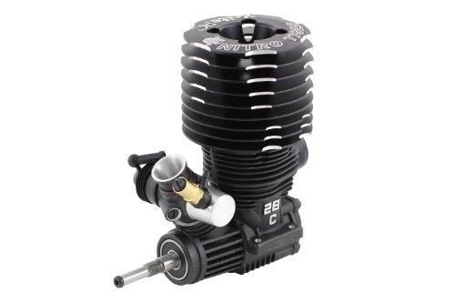 XciteRC 72103000 RC Auto Motor, Nitro Tiger 28 ohne Seilzugstarter, 4.8 ccm, schwarz (28 Motor)