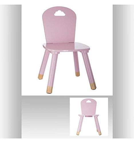 *Chaise en bois pour enfants – Décor Nuage – Coloris ROSE Acheter en ligne