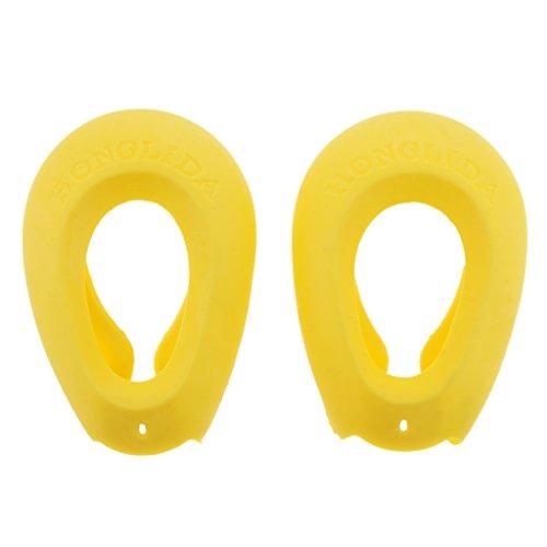B Baosity Ein Paar Silikon Haarstyling Haarfarbe Ohrenschützer Ohrenschutz, Geeignet für Männer und Frauen - Gelb