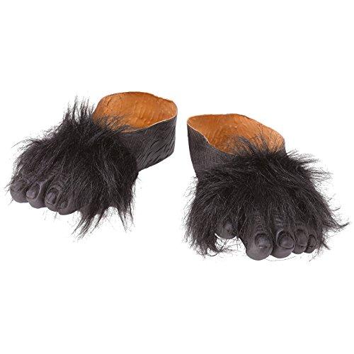 üße zum Überziehen Affenfüße Gorillafüße Schuhe f. Tierkostüm ()