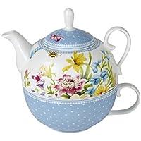 Creative Tops Katie Alice, set da tè in fantasia floreale, con piattino, multicolour, Confezione da 1