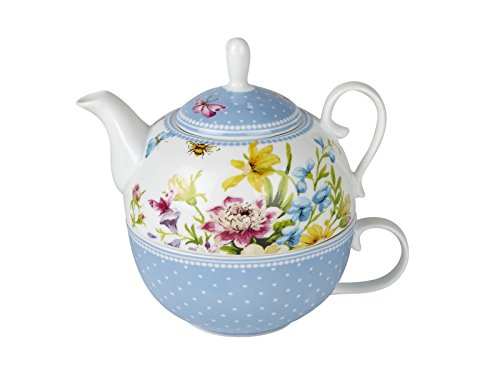 Katie Alice English Garden Porcelain Tea For One Teapot & Cup