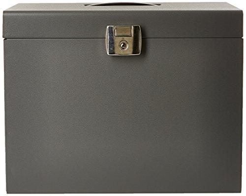 Esselte 11896 - Maleta metálica de archivo con 5 carpetas colgantes A4, color gris (antracita)