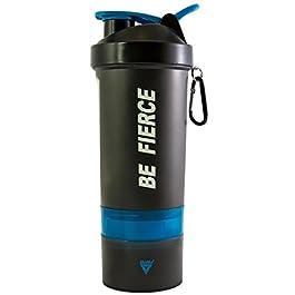 BeMo® borraccia shaker da 800ml, 100% a prova di perdite, con logo, senza BPA, anello di aggancio e moschettone per fissaggio a chiavi o borsa.