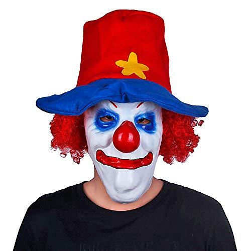 Neue Halloween Unterhaltsame Maske Rollenspiele Requisiten Latex Caps Clown Lustige Prom Maske Unisex 1 Stücke Stücke Erwachsene Geschenk,Red,Onesize
