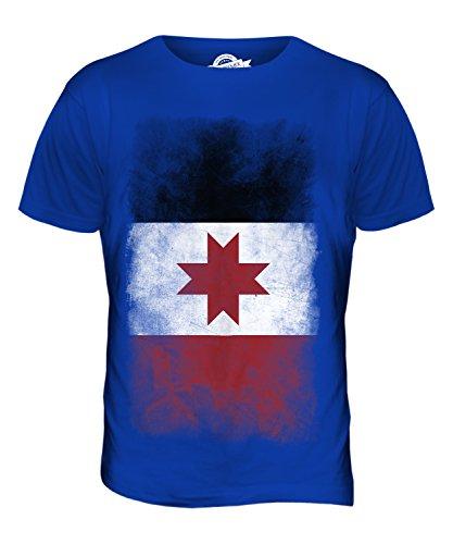 CandyMix Udmurtien Verblichen Flagge Herren T Shirt Königsblau