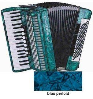 Weltmeister OPAL - 96 Akkordeon blau, 37/96/III/7, 18mm Tastatur