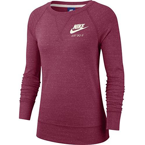 Nike Damen W NSW Gym VNTG Crew Long Sleeved T-Shirt True Berry/Sail M
