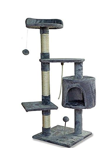 Albero per gatto con graffiatoio cuccia giocattolo gatti parco giochi tiragraffi in sisal naturale (picasso 30088)