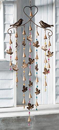 Blatt Vogel Windspiel Mobile mit gemischten Perlen (Gemischter Vogel)