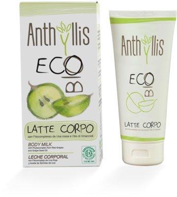 ANTHYLLIS - Latte Corpo Idratante Biologico Delicato - con fitocomplesso da uva rossa e olio di vina